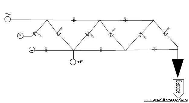 Вот схема умножителя УН9/27-13