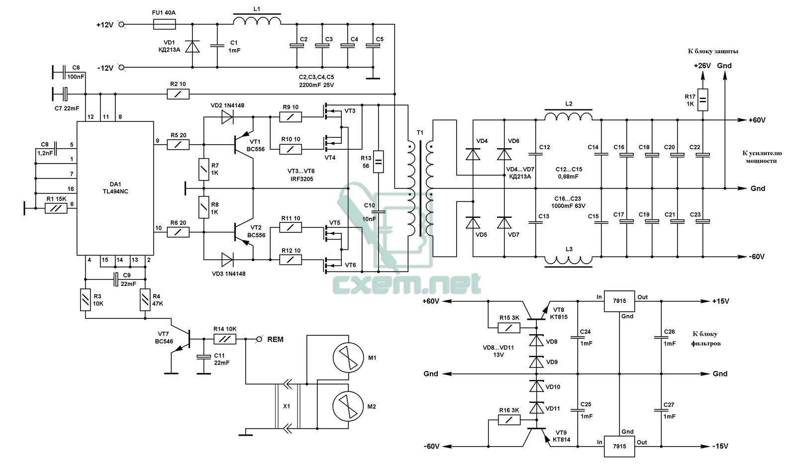 100 Mos Fet Inverter Circuit Diagram Advance Mini Ups Circuups Connection Wiring For Home Remarkable House With Tl 494 Ferrite